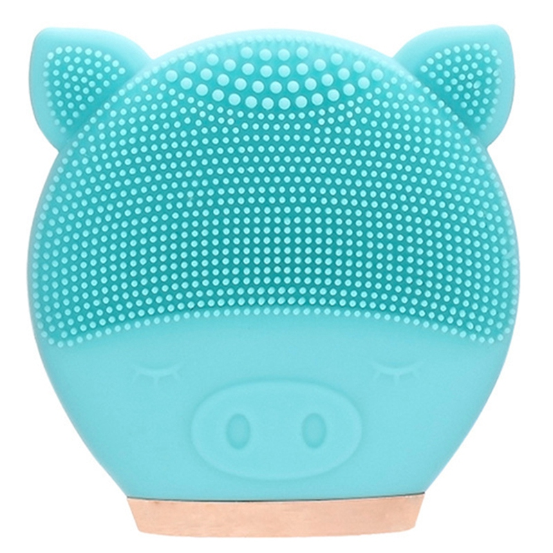 Electric Facial Cleansing Brush Silicone Sonic Vibration Mini Cleanser Deep Pore Cleansing Skin Massage Face Brush Cleansing N