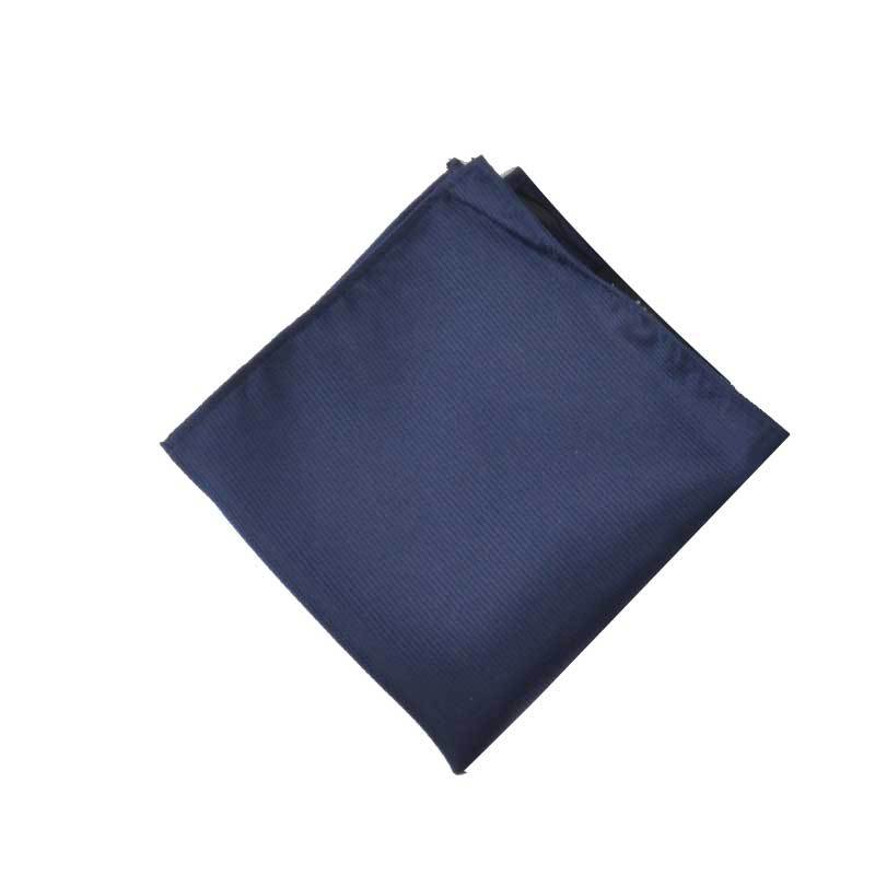 Men Kerchief Suit Shirt Pocket Square-Style Solid Color Jacquard