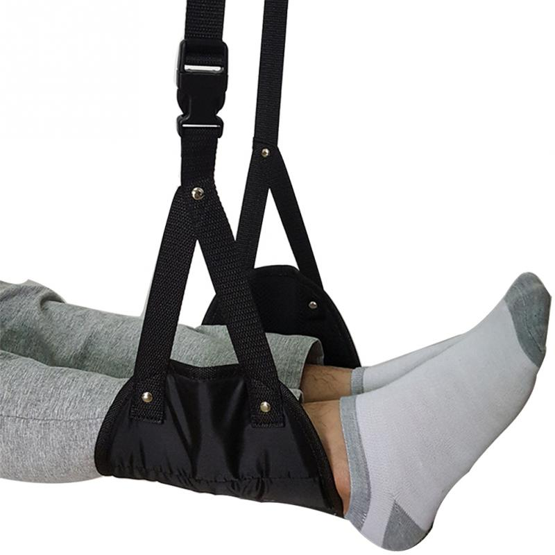 Portable Comfy Hanger Travel Airplane Footrest Hammock Office Portable Carry-on Foam Flight Airplane Travel Footrest Leg Hammock