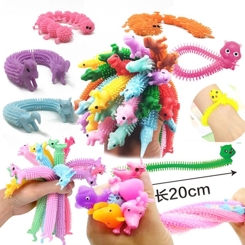 Fidget Autism Vent-Toy Rope-String Worm-Noodle Adults Kids Children TPR for 3pcs/Set