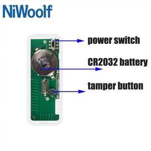 Detector de puerta abierta y cerrada inalámbrico de 433MHz NIWOOLF, Detector de contacto de puerta de 2 vías, Sensor Megnet para nuestro sistema de alarma antirrobo para el hogar