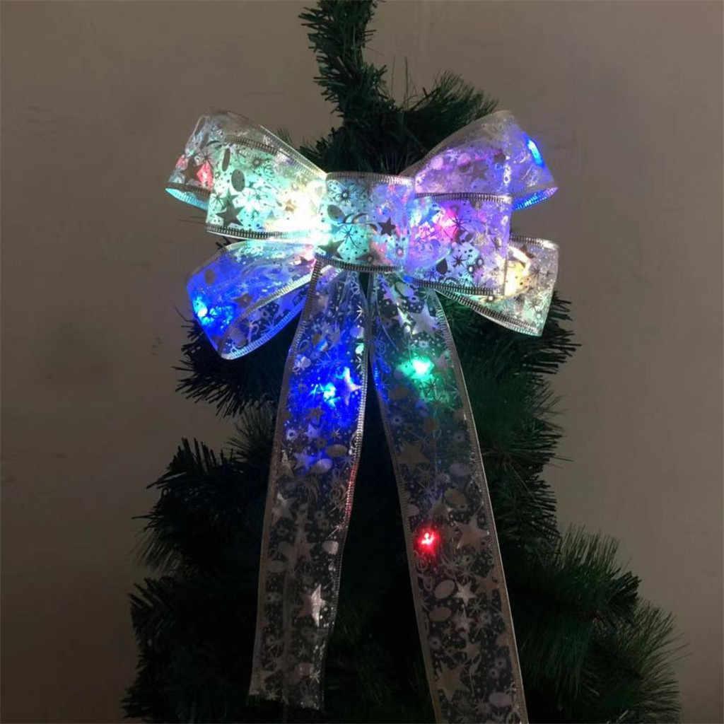 2019 حار بيع الشريط الانحناء شجرة عيد الميلاد من الليد الحلي الشريط الانحناء للمنزل عيد الميلاد اكاليل شجرة ديكور 35X23 سنتيمتر دروبشيب #82870