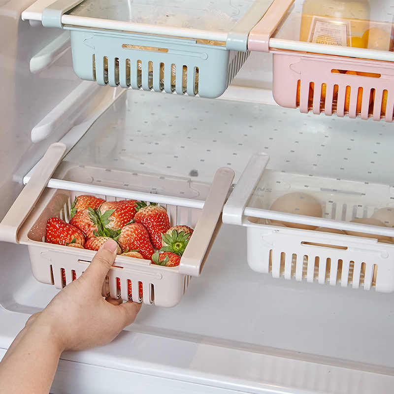 Kreatif Rumah Tangga Kulkas Plastik Keranjang Penyimpanan Makanan dan Minuman Kotak Laci Dapur Peralatan Finishing Case YHJ121303