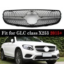 Frente corrida grade de diamante para mercedes glc classe x253 glc200 glc250 glc300 glc450 2016 +