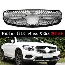 ด้านหน้า Racing Grill เพชรสำหรับ Mercedes GLC class X253 GLC200 GLC250 GLC300 GlC450 2016 +