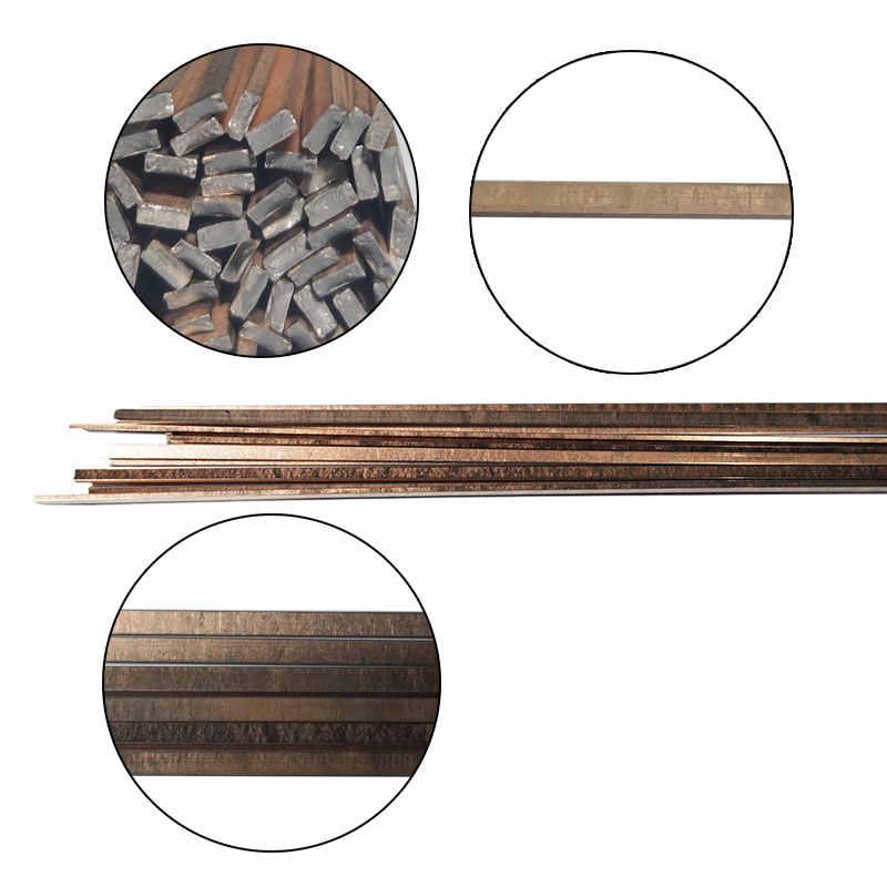 Haste de solda, 5/10/20 peças 1.0mm/2.0mm * 500mm conjunto de haste de soldagem sem necessidade de solda haste de soldagem em pó, fio de solda em bronze