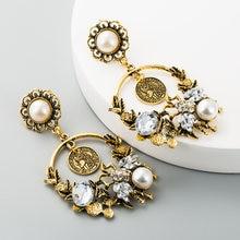 Женские серьги капли za большие круглые с жемчужинами жемчужные