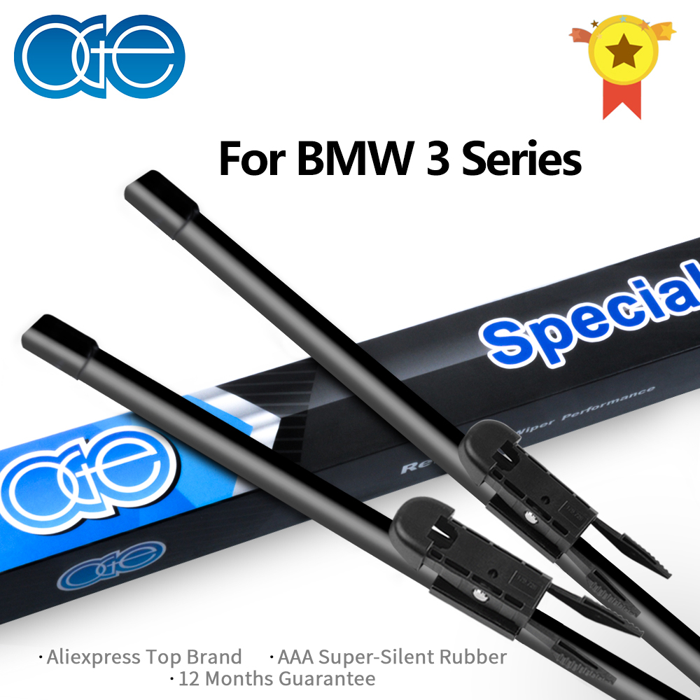 Oge Front And Rear <font><b>Wiper</b></font> Blades For <font><b>BMW</b></font> 3 Series E36 E46 E90 E91 E92 E93 <font><b>F30</b></font> F31 F34 1993-2017 Car Windscreen Rubber image