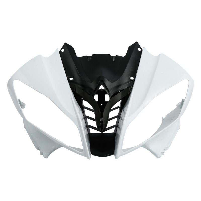 Carenado de frente superior de motocicleta, nariz de carenado para Yamaha YZFR6 YZF-R6 YZF R6 2008-2016 sin pintar Kit aerodinámico de 2 uds. Para motocicleta, Kit de alas para Honda NC, CB, CBR, Kawasaki, Ninja ZR, ZX, Yamaha y YZF, en blanco, negro y rojo