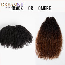 1B 4 27 Ombre Kleur 4c 4a Mongoolse Afro Kinky Krullend Clip Ins Human Hair Extensions 8 Stks/set Clips Ins hair Extensions Natuurlijke(China)