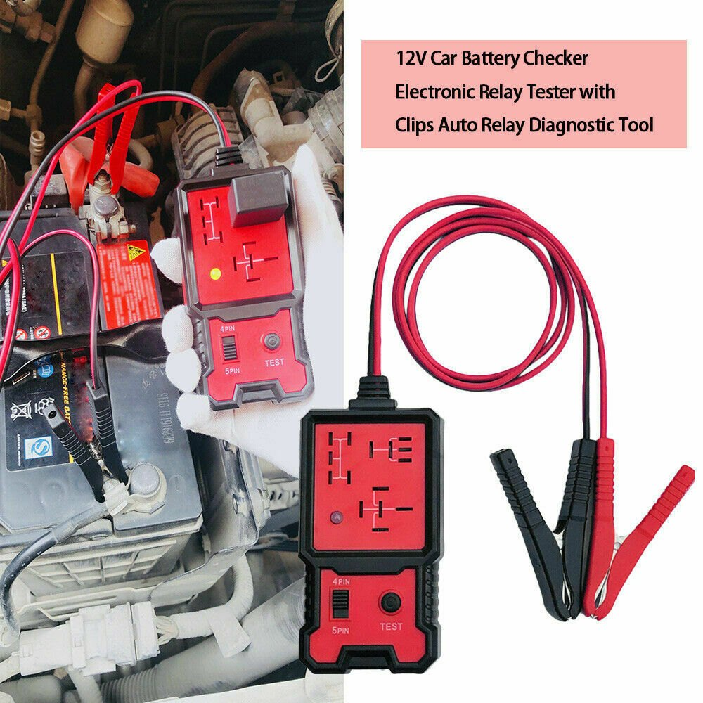 12V <font><b>Electronic</b></font> Relay Tester <font><b>Car</b></font> Truck Motorcycle Universal Battery Checker Test Analyzer Repair <font><b>Tool</b></font> Professional Accessory image