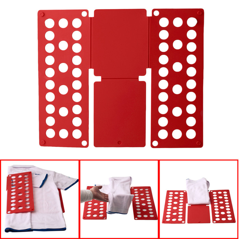Quality Adult Kids Magic Clothes Folder T <font><b>Shirts</b></font> Jumpers <font><b>Organizer</b></font> Fold Save Time Quick Clothes Folding Board Clothes Holders image