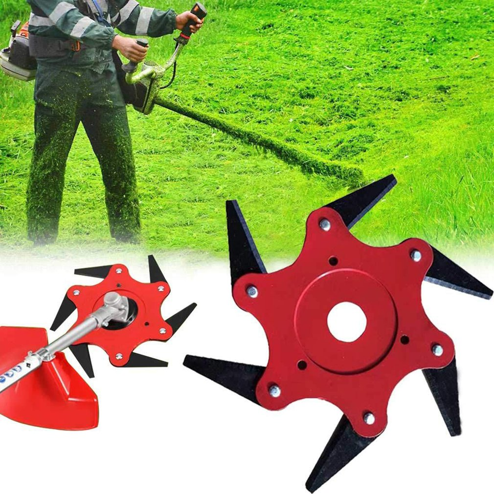 6 Teeth Brush Cutter Blade Grass Trimmer Metal Blades Bush Trimmer Head Garden Grass Trimmer Head For Lawn Mower Gardening Tools