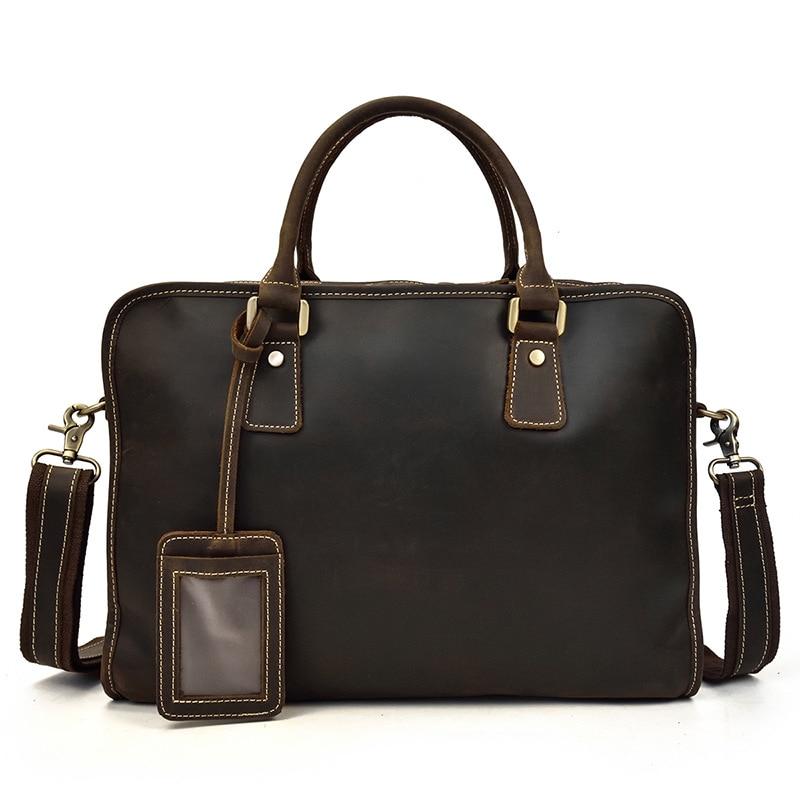 MAHEU محمول جلد طبيعي 15.6 بوصة الرجال حقيبة العمل حمل مكتب رجل محفظة حقيبة أعمال جلدية الملحق حالة-في حقائب جلدية من حقائب وأمتعة على  مجموعة 1
