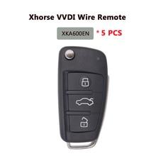 XHORSE X003 XKA600EN télécommande universelle porte clés 3 boutons A6L Q7 Style pour VVDI clé outil 5 PC/Lot