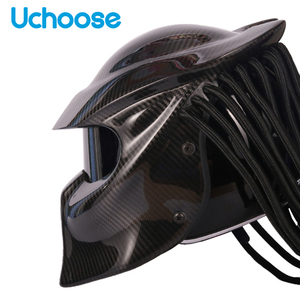 Image 3 - Carbon Fiber Full Face Helmets Motorcycle Predator Helmet Certification High Quality Casco Depredador Clear Colorful Lens