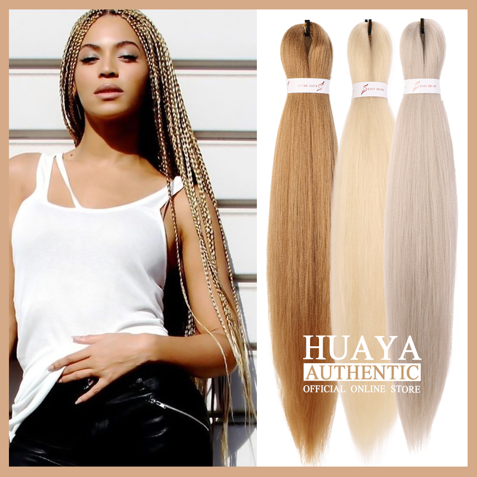 HUAYA Crochet Braids Ombre Color Jumbo Hair Braids  Womeng's Synthetic Easy Braid Hair Extensions Orange Yellow Golden