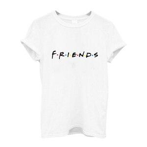 Image 5 - 100% cotton friends tv tee shirt femme womens shirts women tshirt leopard t shirt women short sleeve tee shirts vintage print