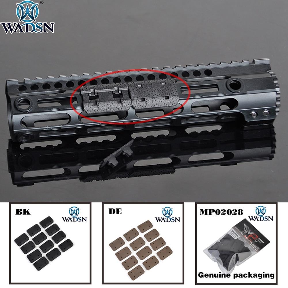 WADSN 12pcs/1set Airsoft M-LOK Type 2 Rail Covers M lok Handguard Weaver 20mm Picatinny Rail Cover