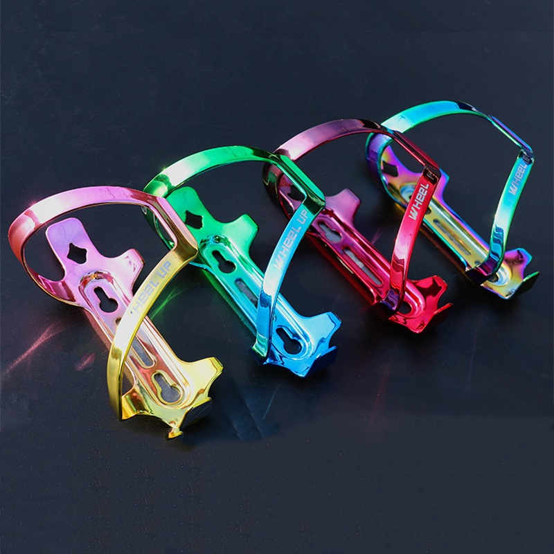 Colorful Bicycle Water Bottle Holder High Strength Aluminum Alloy Rainbow MTB Road Bike Water Bottle Cage Cycling Accessories