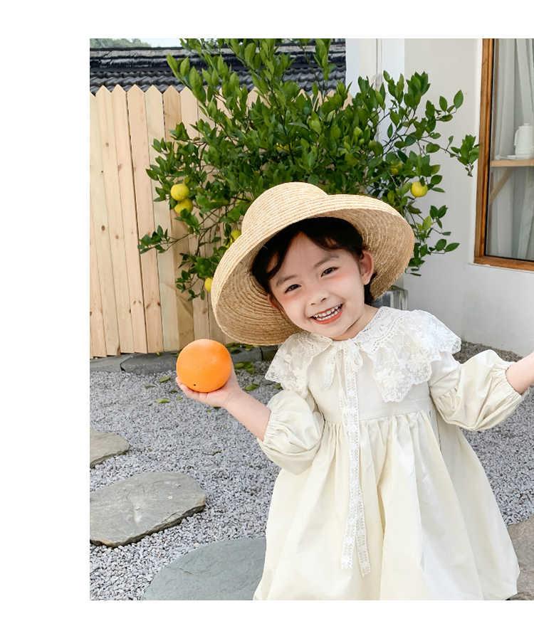 Childrenswear 2020 Frühjahr Neue Prinzessin Kleid Adrette Rock Kleinkind Kleid Runde Kragen Mit Schöne Spitze Mädchen Schönheit Kleider