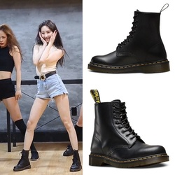 2019 New Women Ankle Boots Genuine Leather Dropshipping Unisex With Fur Women Martin Boots Warm Ladies Motorcycle Boots