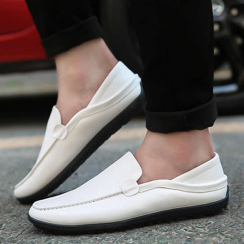 Mazefeng 2019 New Summer Man Leather Slip-On Casual Shoes Adults Fashion Lazy Loafers Men Driving Doug Shoes Breathable