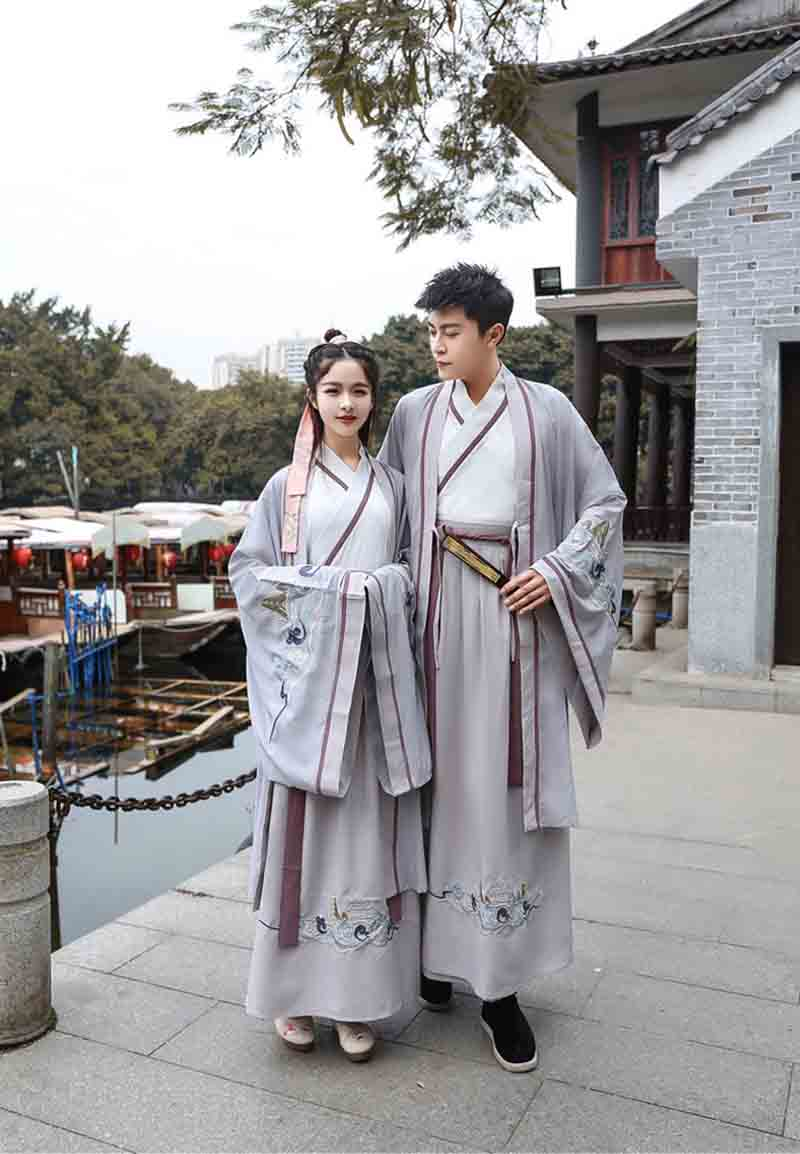 Hanfu For Women/Men Ancient Chinese Traditional Clothes Fantasia Couples Halloween Cosplay Costume For Men/WomenPlus Size 2XL