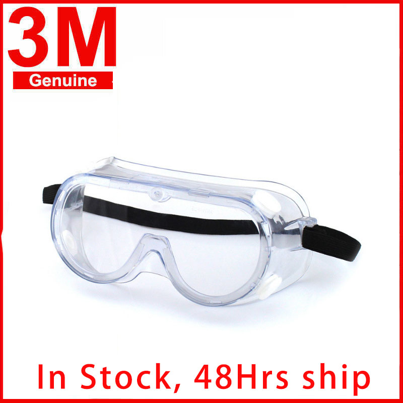 3M 1621 Anti-Impact Safety Goggles Anti Chemical Splash Irradiation Protection Polycarbonate Hospital Laboratory Paint Glasses