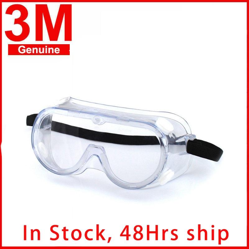 3M 1621 Anti-Impact Safety Goggles Anti Chemical Splash Irradiation Protection Polycarbonate Hospital Laboratory Paint Glasses