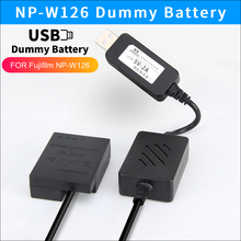 USB power bank charger cable NP W126 dummy battery CP W126 DC Coupler for Fujifilm X T3 X PRO1 X PRO2 HS33 HS30 HS50 EXR cameras