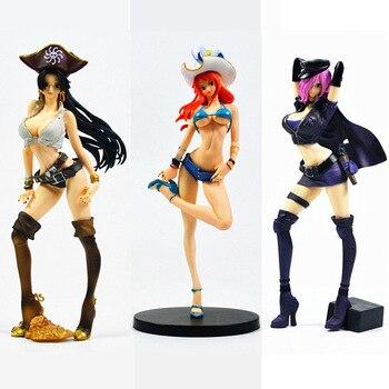 цена 23CM One piece anime figure Boa Hancock Nami Reiju figurine beautiful sexy girl action figure PVC Collection model toys онлайн в 2017 году