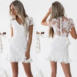 Женское кружевное коктейльное платье с вышивкой BacklakeGirls 2020, короткое торжественное платье Elbise, Vestidos De Coctel