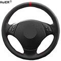 HuiER ручной швейный чехол рулевого колеса автомобиля оплетка на руль для BMW E90 E91(Touring) 320d 325i 335i X1 E84