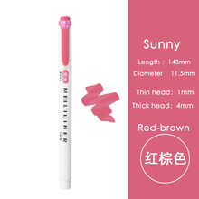 Marker-Pen Highlighter-Pen Light-Color Water-Based-Color-Pen Office Double-Head Student
