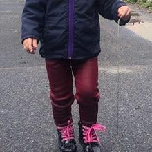 Pants Trousers Leggings Kids Girls Winter Casual Children's Velvet Thick Infant Slim