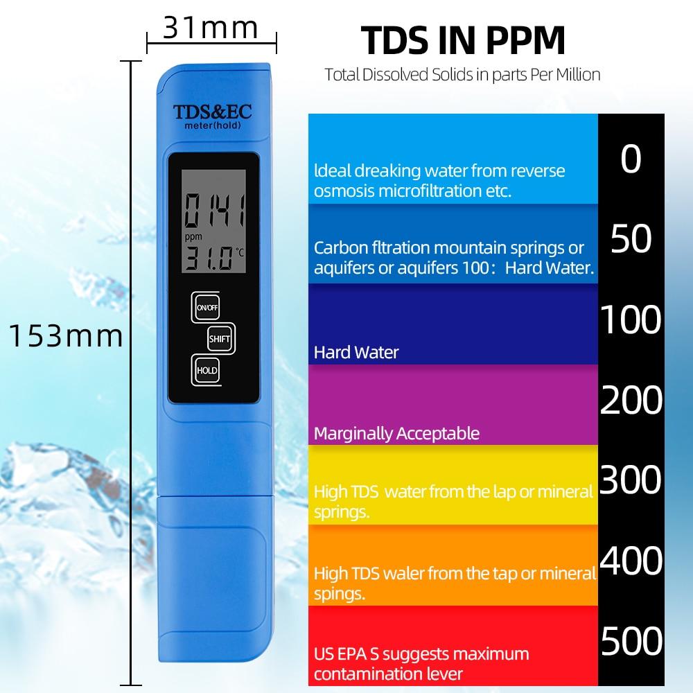 Nový TDS EC Měřič teploty Tester pero 3 In1 Funkce Vodivost - Měřicí přístroje - Fotografie 4