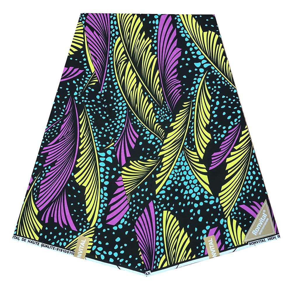 African Wax Fabric High Quality 100%Cotton African Fabric For Wedding Dress Sewing Cotton DIY Ankara Fabric 6 Yards / Piece