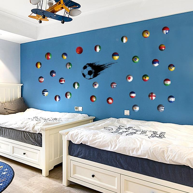 Купить футбол повседневные декоративные наклейки на стены 3d детская
