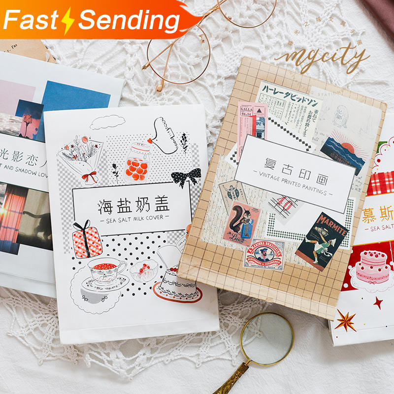 100sheets Vintage Writable Paper Decoration DIY  Diary Scrapbooking Notepad Label Stationery Inviscid Stickers No Stickiness