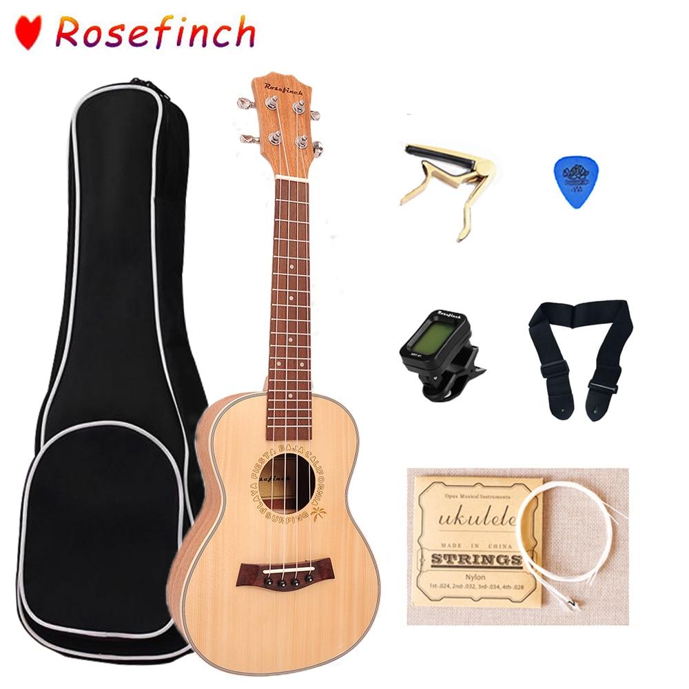 Rosefinch 23 Inch Ukulele Panel Spruce Mahogany With Bag Tuner 4 Strings Hawaii Guitar Ukulele For Ukulele Conert UK2342C
