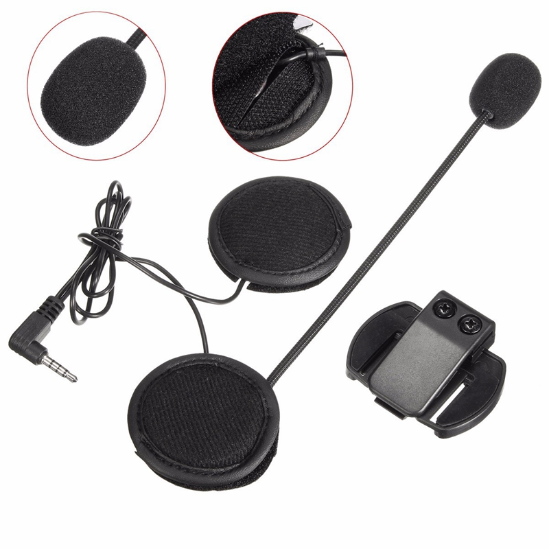 Headset Earphone For 1000M Motorcycle Helmet Intercom Headset With Bluetooth Function Black Color High Quality Stereo Effect