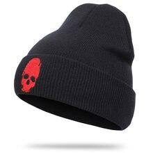 Punisher-bonnet en tricot brodé pour femmes et hommes, crâne de haute qualité, bonnet de couverture en coton, chaud et doux, nouveauté, hiver 2020