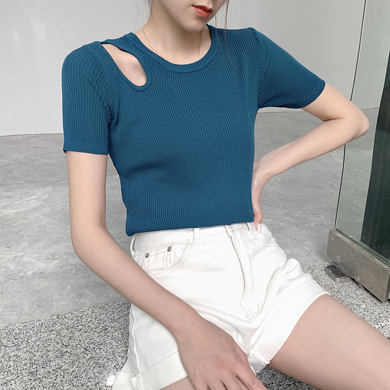 COIGARSAM Brief Blouse Women New Spring Blusas Womens Tops And Blouses Orange White Pink Black Peacock Blue Light Green B004