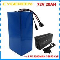 2000W 72V E Scooter battery 72V 20AH Lithium battery pack 72 V Ebike Battery 3.7V 5000MAH 26650 Cell 40A BMS