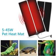5-45 Вт Террариум рептилий тепловой коврик для альпинизма ПЭТ Отопление подкладки с подогревом настраиваемый регулятор температуры коврики рептилий поставки