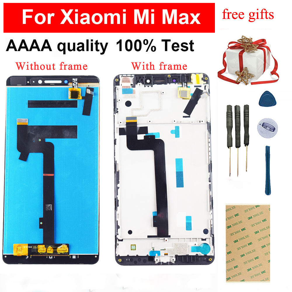 For <font><b>Xiaomi</b></font> <font><b>Mi</b></font> <font><b>Max</b></font> LCD <font><b>Display</b></font> Touch Screen Digitizer Assembly Frame For <font><b>XIAOMI</b></font> <font><b>Mi</b></font> <font><b>Max</b></font> <font><b>Display</b></font> Screen <font><b>Max</b></font> LCD Touch Replacement image
