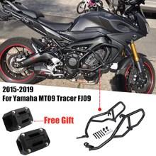 Black Engine Protective Guard Crash Bar Frame Protector For Yamaha MT09 MT 09 MT-09 Tracer FJ09 FJ-09 2015 2016 2017 2018 2019