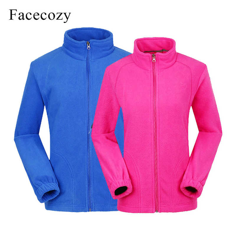 Facecozy Men Women Outdoor Fleece Hiking Jacket Sports Camping Warm Winter Jacket Trekking Coat for Climbing Fishing Skiing