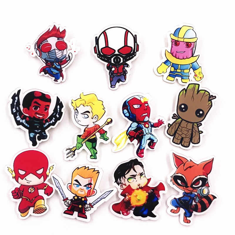 Guardians Of The Galaxy Avengers Bros Pin Lencana Perhiasan Iron Man Captain America Spiderman Bros untuk Wanita Pria Kids Hadiah
